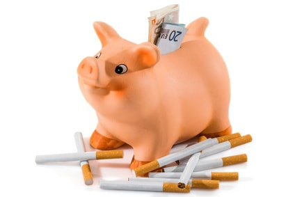 argent économisé dasn tirelire grâce à l'arrêt du tabac